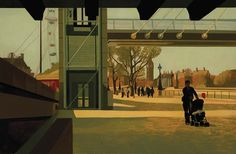 Southbank, David Piddock, Oil on gesso board, 50 x 76 cm the perspective of time Nostalgia Art, Drawing, David, Perspective, Painting, Oil, Board, Museum Of Modern Art, Magic Realism