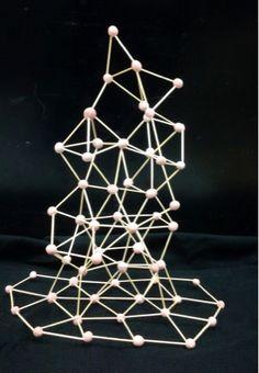 The Helpful Art Teacher: Toothpick Sculptures, How Art Inspires Art Abstract Sculpture, Sculpture Art, Paper Sculptures, Toothpick Sculpture, Pick Art, Linear Art, Sculpture Lessons, Math Art, Principles Of Art