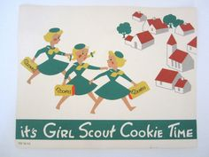 Vintage Girl Scout Cookie Poster Sign by NeatoKeen on Etsy, $32.00