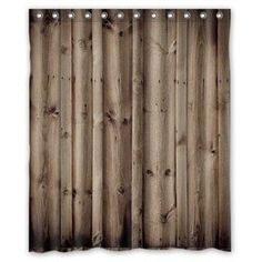 Vintage Rustic Knotty Wood Bathroom Polyester Shower Curtain 152x182cm