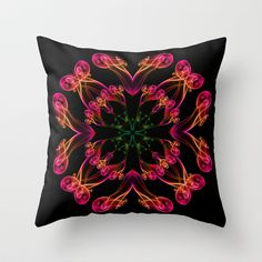 Exotic smoke flower Throw Pillow by inkedsandra - $20.00