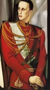 Tamara de Lempica, Portrait of Grand Duke Gabriel - c.1927