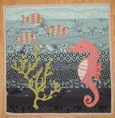 Mini seahorse quilt at Kelby Sews