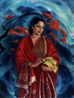 Святослав Рерих. Духовное искусство. Девика Рани Рерих. 1951 Svetoslav Roerich,his wife
