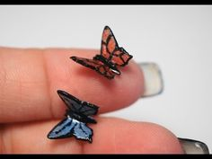 Miniature Butterfly Tutorial, Polymer Clay Tutorial - YouTube
