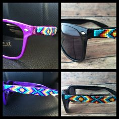 Purple frames Native American Beaded by OraLouiseJewelry on Etsy, $40.00