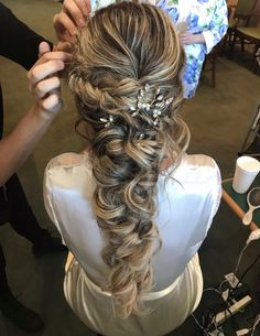 46 Unforgettable Wedding Hairstyles for Long Hair 2019 - Elegant Hairstyle - Hairstyle - # for - - Wedding Hairstyles For Long Hair, Loose Hairstyles, Elegant Hairstyles, Wedding Hair And Makeup, Hair Wedding, Bridesmaid Hairstyles, Bridesmaid Long Hair, Long Curly Wedding Hair, Hairstyle Wedding