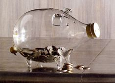 Post image for Glass Piggy Bank by Roost