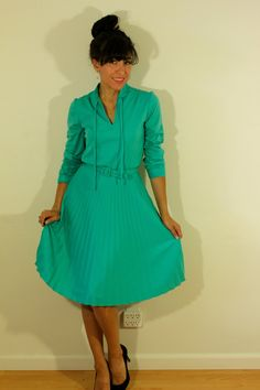 Mint Green 1960s Vintage Dress by VintageRevival818 on Etsy