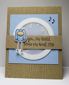 Tweet On You, Woodgrain Background, Stitched Circle Frames Die-namics, Tweet On You Die-namics - Jody Morrow  #mftstamps
