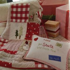 pottery barn christmas quilt for his new toddler bed:) | Ales ... : pottery barn christmas quilt - Adamdwight.com