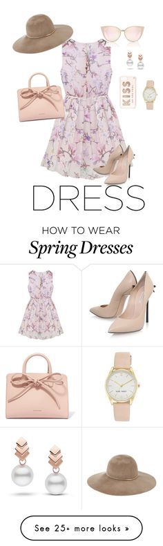 """Spring Time Dreams "" by lliddell on Polyvore featuring Casadei, Mansur Gavriel, Kate Spade, Eugenia Kim, Escalier and Nine West"