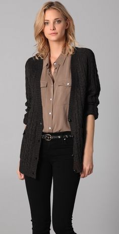 Cheap Monday Cerla Cardigan. love this whole outfit.