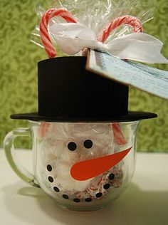 Dollar Store cups.....fill with snow or candy....
