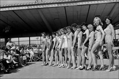 Bathing beauty contest, Weymouth pier bandstand, 1958