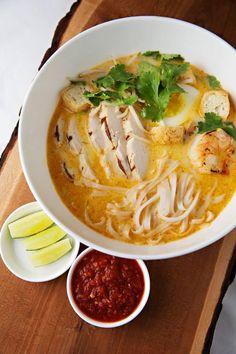 A delicious dish Shangri-La Hotel, #Toronto to add warmth and spice to the winter season - Thai Coconut Noodle Soup!