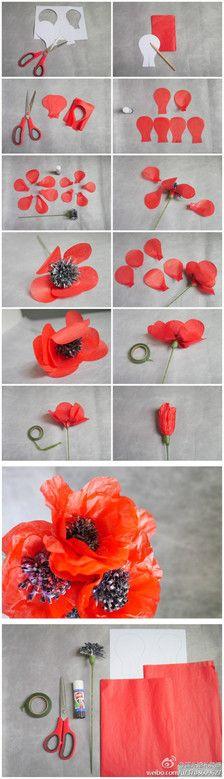 Wedding paper flower tutorial, cute ~!