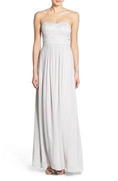 a. drea Strapless Lace Bodice Gown available at #Nordstrom