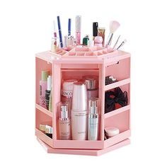 Bestwoohome Plastic Rotating Makeup Organizer Cosmetic Storage Box >>> You can find out more details at the link of the image.