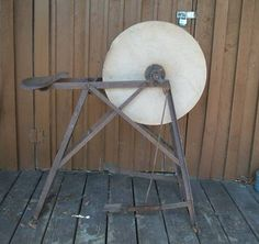 Antique grinding stone pedal wheel w seat sandstone - Craigslist modesto ca farm and garden ...