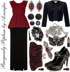 Crafty Lady Abby - VINTAGE INSPIRED: Burgundy Peplum