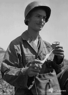 """The film Hacksaw Ridge is about Medal of Honor recipient Desmond Doss. Doss felt compelled to enlist in WWII but refused to bear arms on religious grounds. His mantra of """"Lord, please help me get one more."""" served him well as he saved anywhere from 50-100 soldiers on the battlefield in Okinawa. These photos and quotes by Desmond Doss show the true story of the man and the battlefield at Hacksaw Ridge. Source…"""