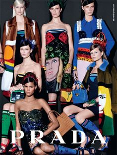Prada spring/summer 2014 - Zien! Zomercampagnes 2014 #Prada #campaign #fashion #mode #model #photography #ELLE