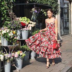 Tamara Kalinic (@tamara) on Instagram: If you buy me flowers for my birthday, they should be on @dolcegabbana dress