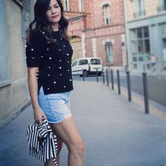 . . . . . #streetfashion #streetphotography #streetstyle #summeroutfit #outfitinspiration #outfitinspo #rippedjeans #jeansshorts #ootd #fashion #outfit #style #fashiongram #fashionaddict #liketkit #instafashion #instastyle #paris #france
