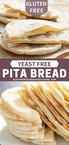 Paleo meals 11329436551500631 - This soft and tender gluten free pita bread is also yeast free, so there's no rising time. Store-bought gluten free flatbreads simply can't compare. Source by gfshoestring Pain Pita Sans Gluten, Gluten Free Pita Bread, Sans Gluten Sans Lactose, Gluten Free Baking, Vegan Pita Bread Recipe, Gluten Free Flatbread, Gluten Free Cookies, Gf Recipes, Gluten Free Recipes