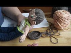 My Little Crochet Doll 1 Starting the Head - YouTube
