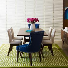 Happy Chic By Jonathan Adler Bleecker Dining Furniture.... Love This Blue  Armchair