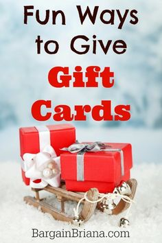 24 Cute And Clever Ways To Give A Gift Card Christmas