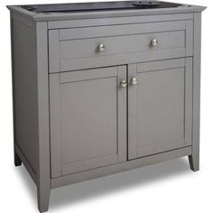 Chatham Shaker 36 Inch Traditional Single Sink Bathroom Vanity in Grey