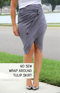 GREAT BEACH COVER UP IDEA!!!   No Sew Wrap Around Tulip Skirt