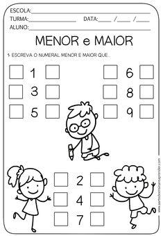 Preschool Writing, Kindergarten Math Worksheets, Preschool Games, Activities For Kids, Alphabet Templates, Math Books, Math For Kids, Math Lessons, Kids And Parenting