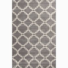 Juniper Home Grant Handmade Trellis Gray/ White Area Rug (8' X 10') (8x10), Grey, Size 8' x 10' (Wool, Geometric)