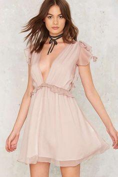 Nasty Gal Dragonfly Ruffle Dress - Dresses: 2, XS, S