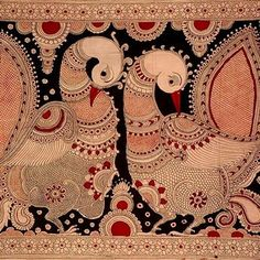 This motif is often seen in Traditional Kalamkari...