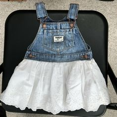 Clothing, Shoes & Accessories Baby & Toddler Clothing Tommy Hilfiger Toddler Girls Denim Blue Jean Skirt Size 2t Bows Side Zip