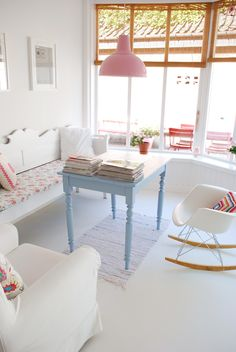 yvestown by ( Nice home with a great craft room that would be easy to replicate) Casa Color Pastel, Pastel Colors, Sweet Home, Pastel House, Living Spaces, Living Room, Decor Room, Home And Deco, Scandinavian Home