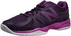 New Balance Womens WC696 Tennis ShoeBlackPink8 B US