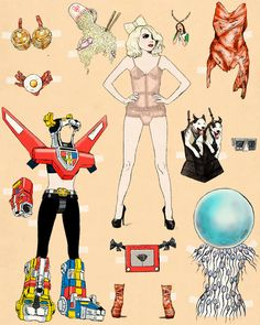 A Collection of Incredibly Bizarre Pop-Culture Paper Dolls