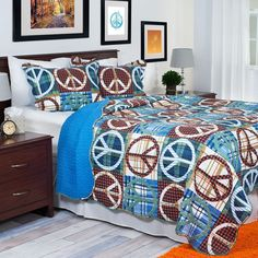 Have to have it. Lavish Home Peace Quilt Set - $41.99 @hayneedle