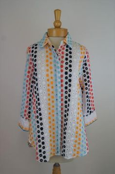 Crew Womens Short Sleeved Tie Waist Button Down J Multiple Colors Size Large