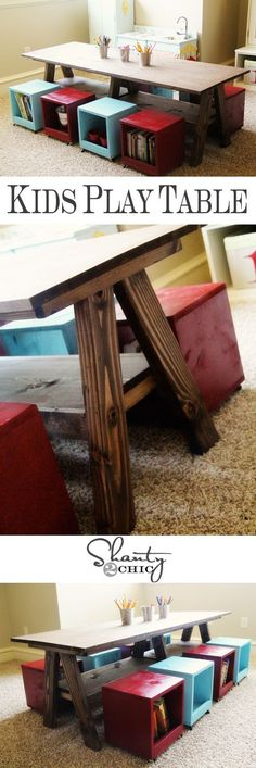 DIY Kids' Play Table | Shanty 2 Chic