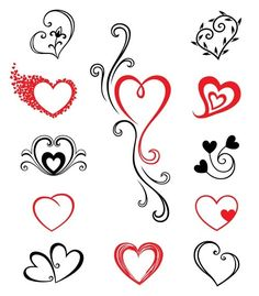 Heart Tattoos: I love the one in the middle, or at least that heart, I'd want to do the main heart in green for my mother.