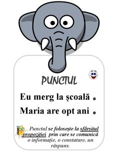 Semne de punctuație pentru clasa întâi, planșe de afișat în clasă: punctul, semnul întrebării, linia de dilog, semnul exclamării Romanian Language, Student Information, Teacher Supplies, School Staff, Education Quotes, Preschool Activities, Kids And Parenting, Homeschool, Classroom