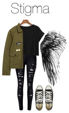 """BTS Wings: Stigma"" by kookiechu ❤ liked on Polyvore featuring Belgique and Converse"