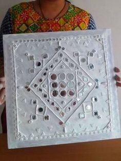Lippan Kaam Clay Art of Gujarat : 7 Steps (with Pictures) - Instructables Dot Art Painting, Fabric Painting, Broken Mirror Art, Clay Wall Art, Clay Art Projects, Hand Embroidery Art, Indian Folk Art, Indian Art Paintings, Plate Art